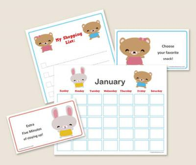 Free Printable:  Kawaii Organization Kit for Kids