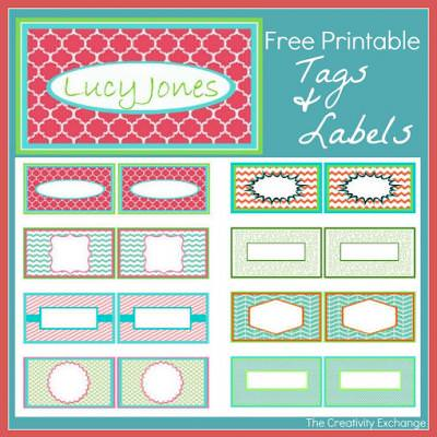 Free Printable Kid's Calling Cards for Tags and Labels