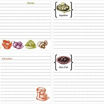 Free Printable Recipe Cards {printable cards}