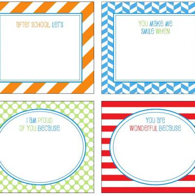 Free Printable School Lunch Notes {Printable Card}