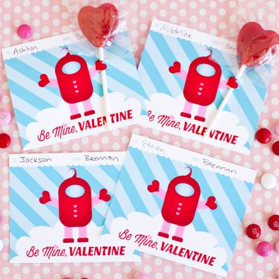 Free Printable Space Valentine