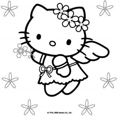 Hello Kitty Christmas Coloring Pages | Tip Junkie