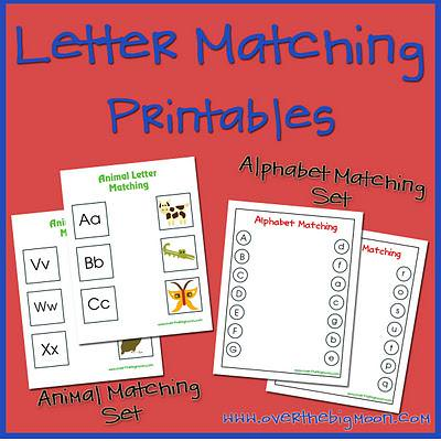 Letter Matching Printable {Kids Printable Activities}