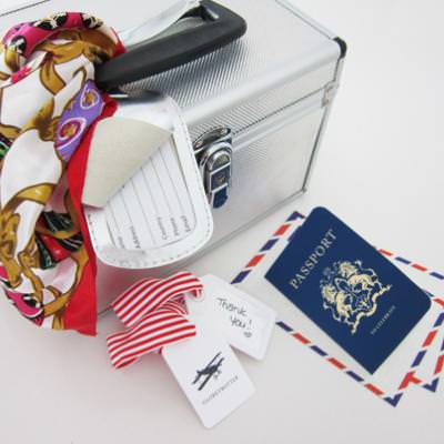 Luggage Tags and Passport Invitation