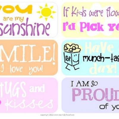 Lunchbox Love Notes {Printables for Kids}