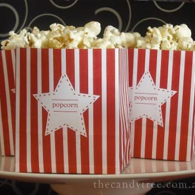 Mini Popcorn Boxes {Movie Themed Parties}