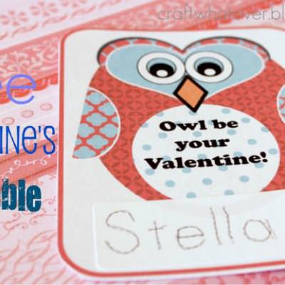 Owl Be Your Valentine Printable