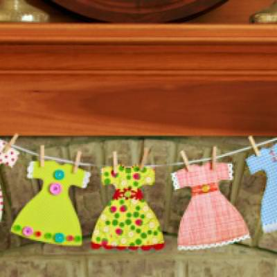 Paper Dress Garland {Free Pattern}