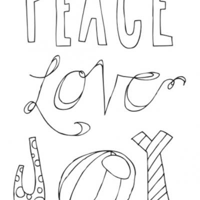 peace love joy free printable poster christmas coloring pages printable
