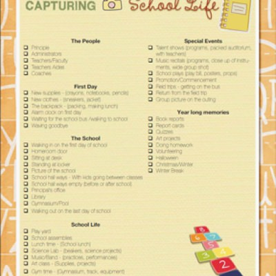 Photo Guide - Capturing School Life