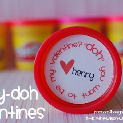 Play-Doh Valentine with Printable Labels