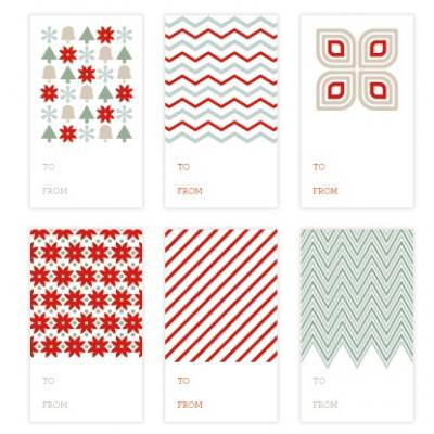 Printable Christmas Gift Tags {Christmas Printables}