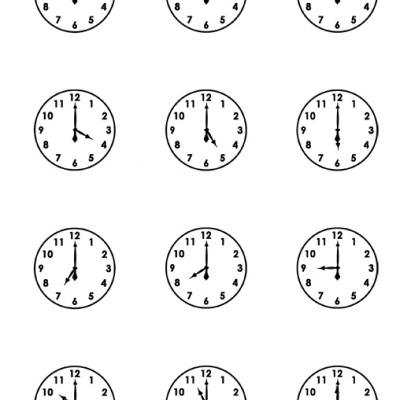 Time Math Worksheets with Clock Faces #4 | Time Worksheets Org
