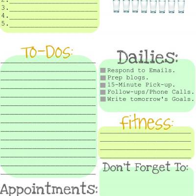 Printable Daily Organizer