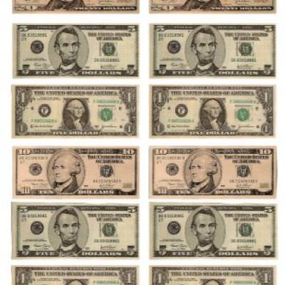 It is a graphic of Lively Fake Printable Money