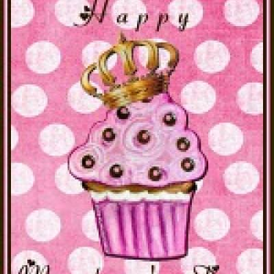 Printable Mother's Day Cupcake Card {Online Printable Card}