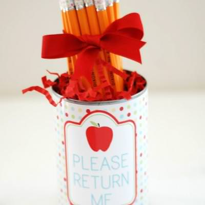 Printable Teacher Gift {pencils and holder}