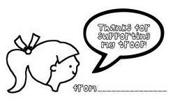 Printable Thank You Tags for Girl Scout Cookies