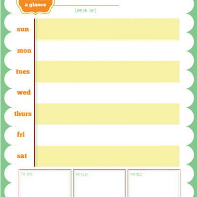 printable week at a glance calendar printable calendar tip junkie
