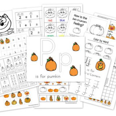 Pumpkin Preschool Coloring Pages {Coloring Pages}