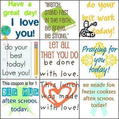 Quick Lunch Love Notes {Printables for Kids}