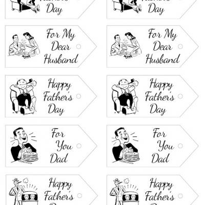 Retro Father's Day Gift Tags