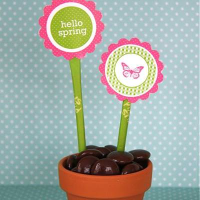 Spring Tags {Party Ideas}