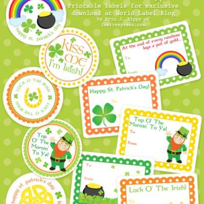 St. Patrick's Day Labels and Stickers