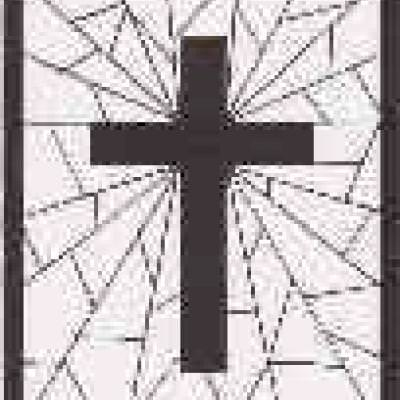 Stained Glass Cross Coloring Page | Tip Junkie
