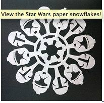 Star Wars Paper Snowflakes {Free Pattern}