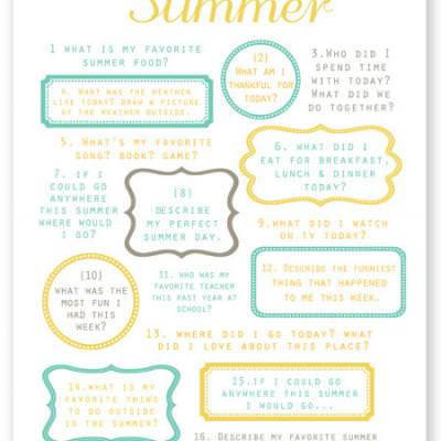 Summer Journaling Prompts {Free Printable}