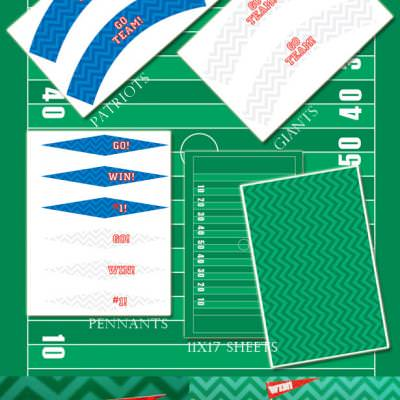 Super Bowl Party Printables ~ make your own stadium of snacks!