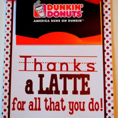 Thanks a Latte 5x7 Card