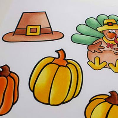 Thanksgiving Clip Art {Printable Thanksgiving Coloring Pages}