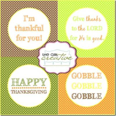 Thanksgiving Cupcake Toppers Printable