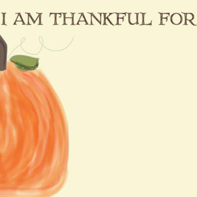 Thanksgiving Printable Memory Notecard {Printable Cards}