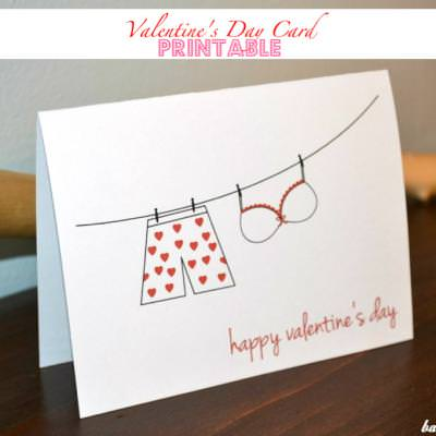 Valentine's Day Card Printable