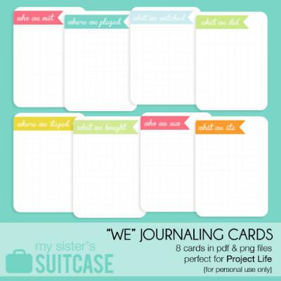 "What ""We"" Did... journaling card {printables}"