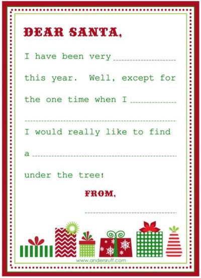 free printable letter from santa template - wish list letter to santa free printable tip junkie