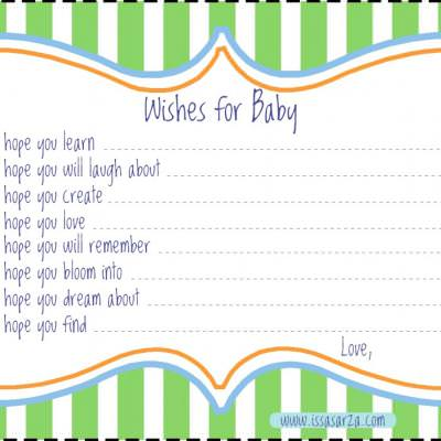 Wishes for Baby Card {baby shower game}