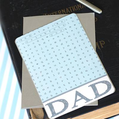 Word Search Father's Day Card {Printable}
