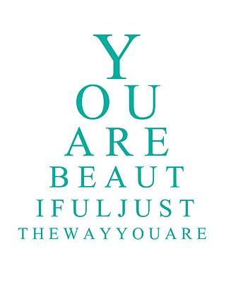 You Are Beautiful Eye Chart {Free Printable}