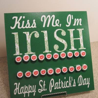 Count Down to St. Patrick's Day Board {kiss me I'm Irish}