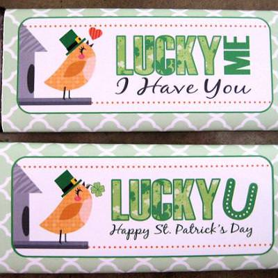 {Free Printable} St. Pattys Candy Bar Wrappers