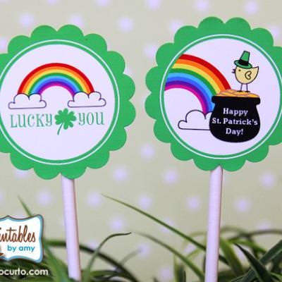 Free St. Patricks Day Printable Cupcake Toppers