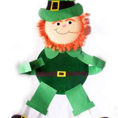Paper Plate Leprechaun Wall Hanging Paper Crafts Tip Junkie