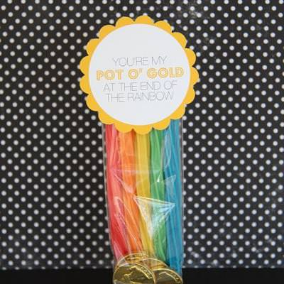 Party Favor:  You Are My Pot of Gold At The End of the Rainbow