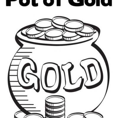 Pot of Gold Coloring Page Tip Junkie