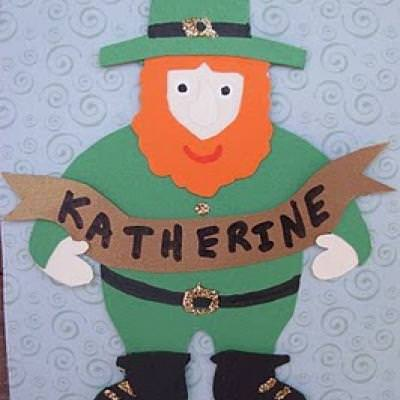 St. Patrick's Day Leprechaun Name Tag Template