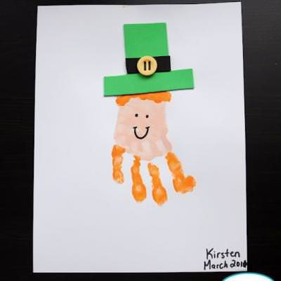 Hand Print Leprechauns {St Patricks Day School Activities}